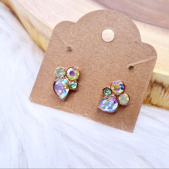 Jewelry - Multi-color Rhinestone stud earrings